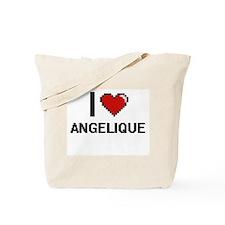 I Love Angelique Digital Retro Design Tote Bag
