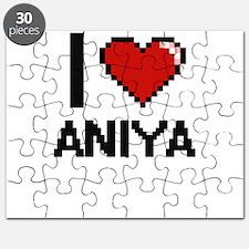 I Love Aniya Digital Retro Design Puzzle