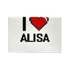 I Love Alisa Digital Retro Design Magnets