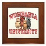 Wombania University Framed Tile