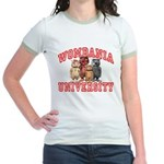 Wombania University Jr. Ringer T-Shirt