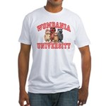 Wombania University Fitted T-Shirt