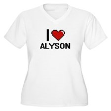 I Love Alyson Digital Retro Desi Plus Size T-Shirt