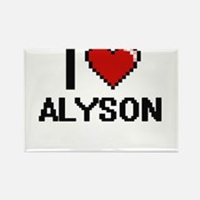 I Love Alyson Digital Retro Design Magnets