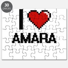 I Love Amara Digital Retro Design Puzzle