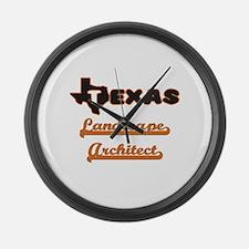 Texas Landscape Architect Large Wall Clock