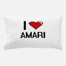 I Love Amari Digital Retro Design Pillow Case