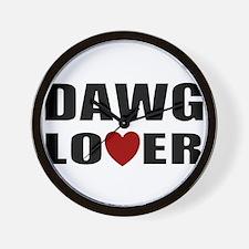Bulldog lover Wall Clock