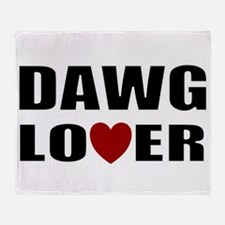 Bulldog lover Throw Blanket