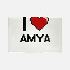 I Love Amya Digital Retro Design Magnets
