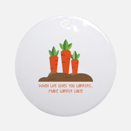 Carrot cake Ornament (Round)