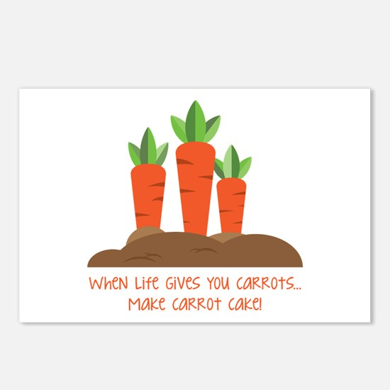 Carrot cake Postcards (Package of 8)