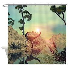 Dilophosaurus Shower Curtain