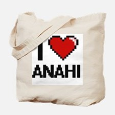 I Love Anahi Digital Retro Design Tote Bag