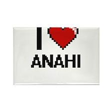 I Love Anahi Digital Retro Design Magnets