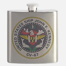 Unique Uss john f kennedy Flask