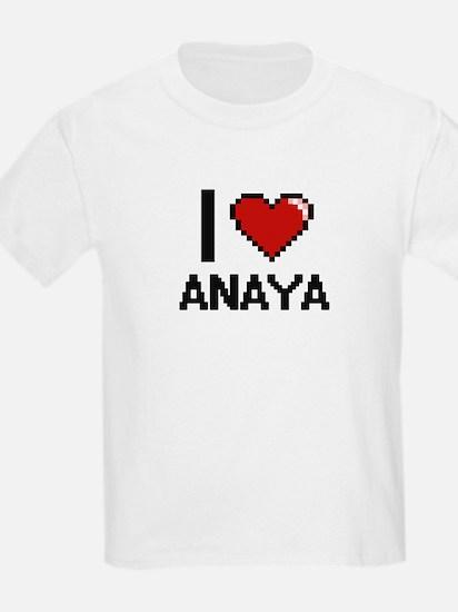 I Love Anaya Digital Retro Design T-Shirt