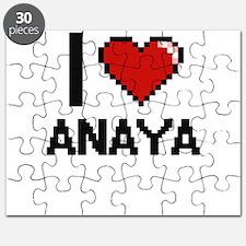 I Love Anaya Digital Retro Design Puzzle