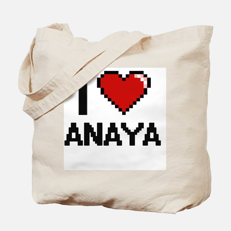 I Love Anaya Digital Retro Design Tote Bag