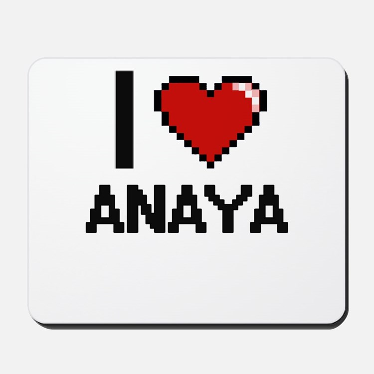 I Love Anaya Digital Retro Design Mousepad