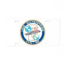 Cute Uss enterprise cvn 65 Aluminum License Plate