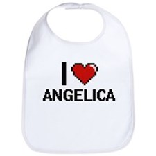 I Love Angelica Digital Retro Design Bib