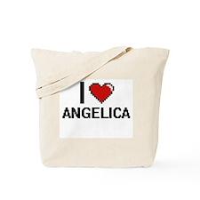 I Love Angelica Digital Retro Design Tote Bag