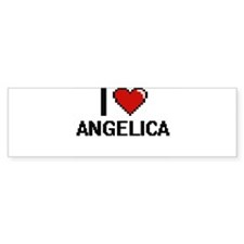 I Love Angelica Digital Retro Desig Bumper Bumper Sticker