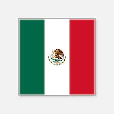"""Mexico Flag Square Sticker 3"""" x 3"""""""