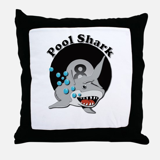 Eight Ball Pool Shark Throw Pillow