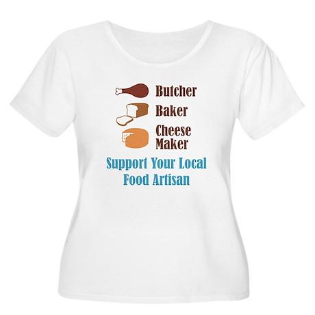 Food Artisan Women's Plus Size Scoop Neck T-Shirt