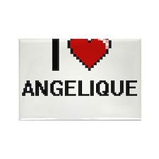 I Love Angelique Digital Retro Design Magnets