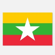 Myanmar Flag Postcards (Package of 8)