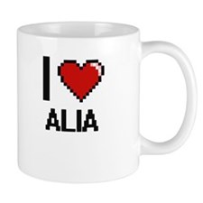 I Love Alia Digital Retro Design Mugs