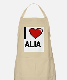 I Love Alia Digital Retro Design Apron