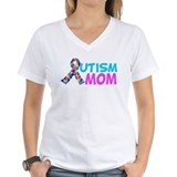 Autism mom Womens V-Neck T-shirts