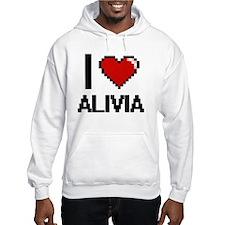 I Love Alivia Digital Retro Desi Hoodie