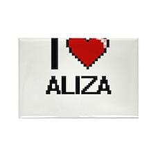 I Love Aliza Digital Retro Design Magnets