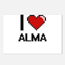 I Love Alma Digital Retro Postcards (Package of 8)