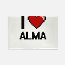 I Love Alma Digital Retro Design Magnets