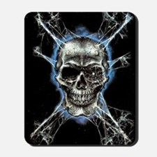 Electric Skull and Crossbones Mousepad