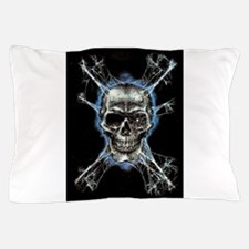 Electric Skull and Crossbones Pillow Case