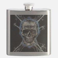 Electric Skull and Crossbones Flask
