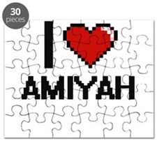 I Love Amiyah Digital Retro Design Puzzle