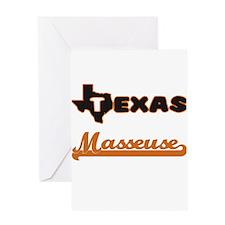 Texas Masseuse Greeting Cards