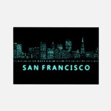 Digital Cityscape: San Francisco, Rectangle Magnet