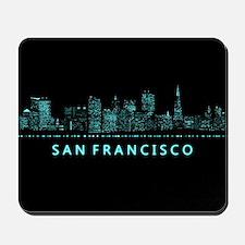 Digital Cityscape: San Francisco, Califo Mousepad
