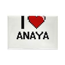 I Love Anaya Digital Retro Design Magnets