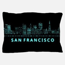 Digital Cityscape: San Francisco, Cali Pillow Case