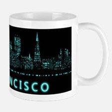 Digital Cityscape: San Francisco, Calif Small Small Mug